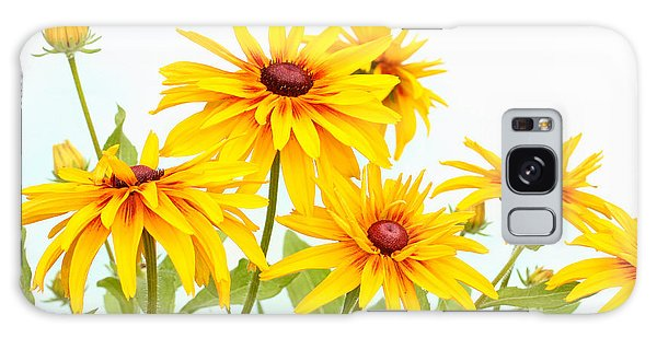 Patch Of Black-eyed Susan Galaxy Case by Steve Augustin