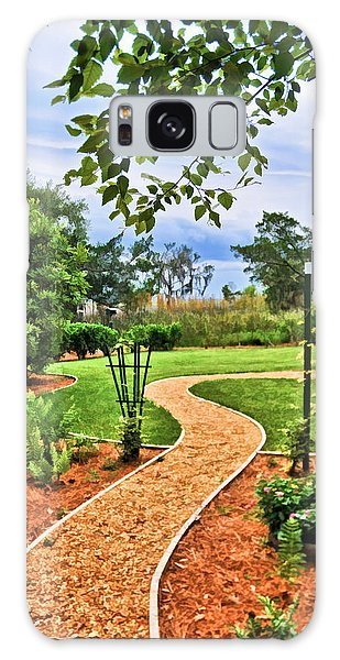 Garden Path To Wild Marsh Galaxy Case