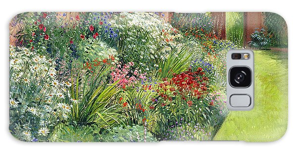 Flowerbed Galaxy Case - Path To The Secret Garden Oil On Canvas by Timothy Easton