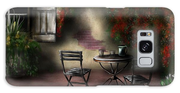 Patio Garden Galaxy Case by Ron Grafe