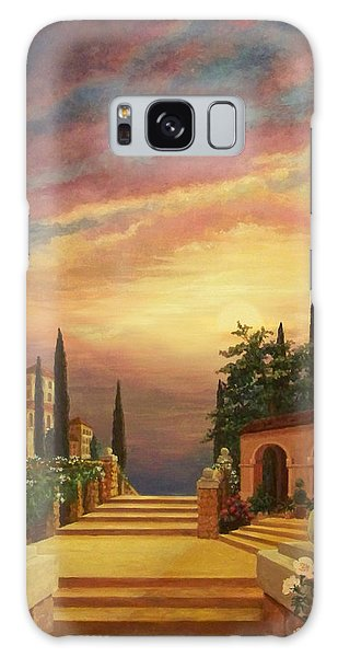Patio Il Tramonto Or Patio At Sunset Galaxy Case by Evie Cook