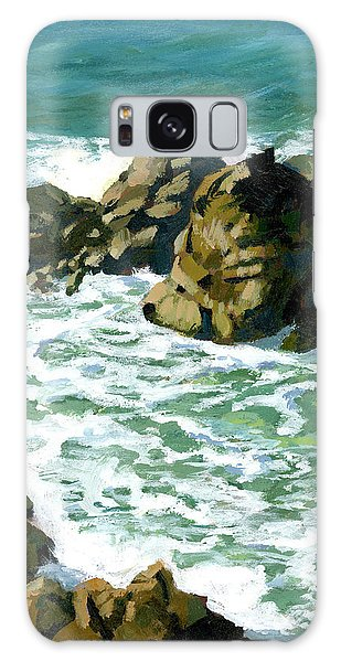Patricks Point Rocks Galaxy Case by Alice Leggett