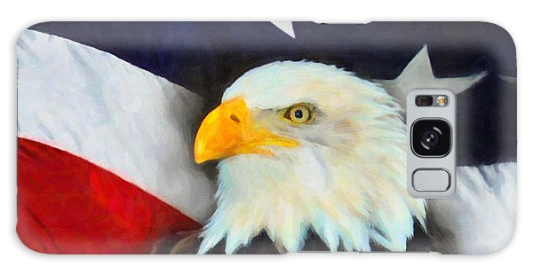 Patriotic American Flag And Eagle Galaxy Case