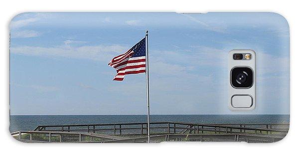 Patriotic Beach View Galaxy Case by Ellen Meakin