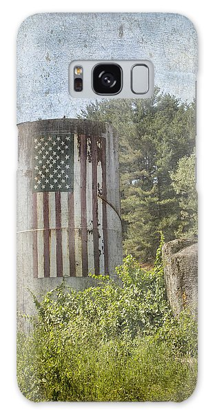 Patriotic Farm Silo Galaxy Case by Betty  Pauwels