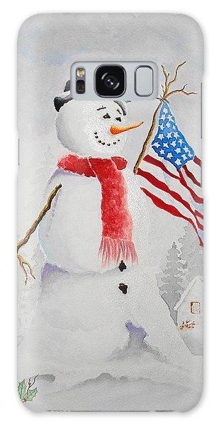 Patriotic Snowman Galaxy Case by Jimmy Smith