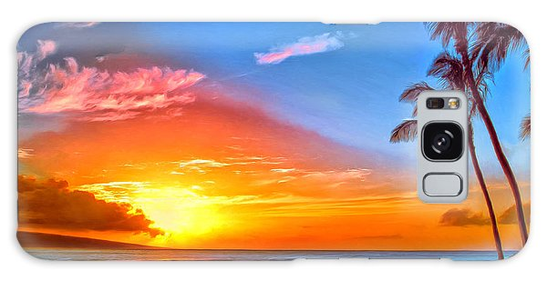 Pau Hana Sunset Maui Galaxy Case
