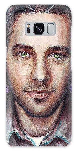 Celebrities Galaxy Case - Paul Rudd Portrait by Olga Shvartsur