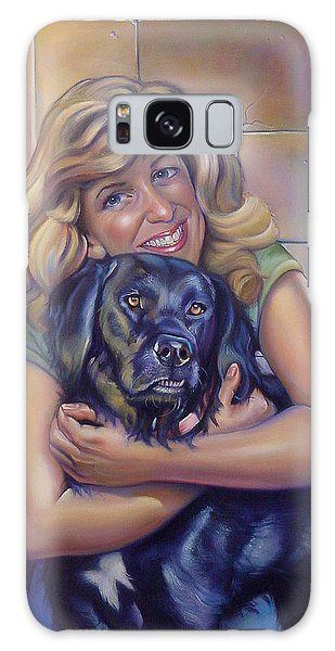 Galaxy Case - Commissioned Portrait Of Paula And Bo by Patrick Anthony Pierson
