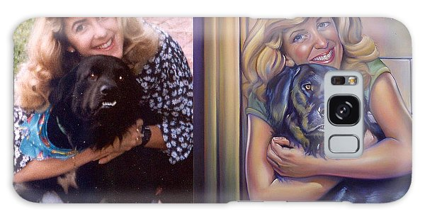 Galaxy Case - Paula Commissioned Portrait Side By Side by Patrick Anthony Pierson
