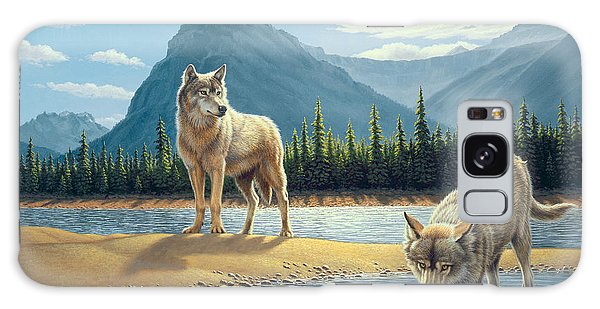 Mountain Lake Galaxy Case - Pause For A Drink-wolves by Paul Krapf