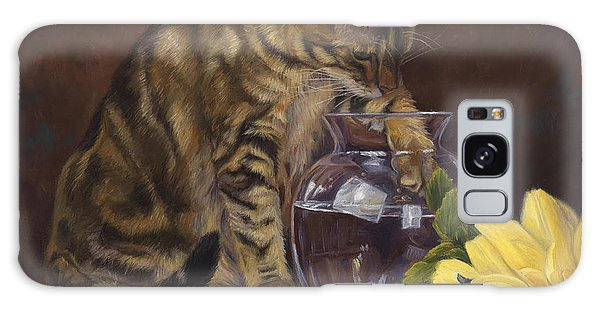 Indoors Galaxy Case - Paw In The Vase by Lucie Bilodeau