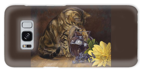 Paw In The Vase Galaxy Case by Lucie Bilodeau