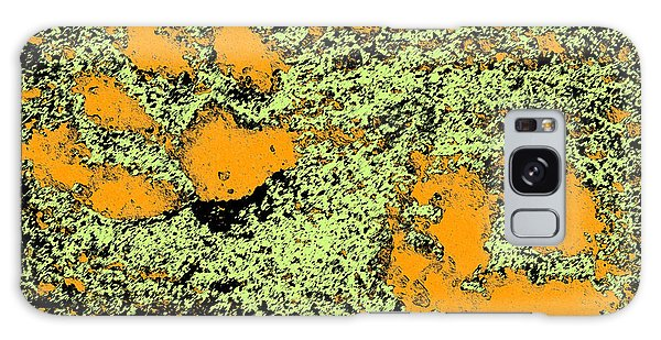 Paw Prints In Orange Lime And Black Galaxy Case