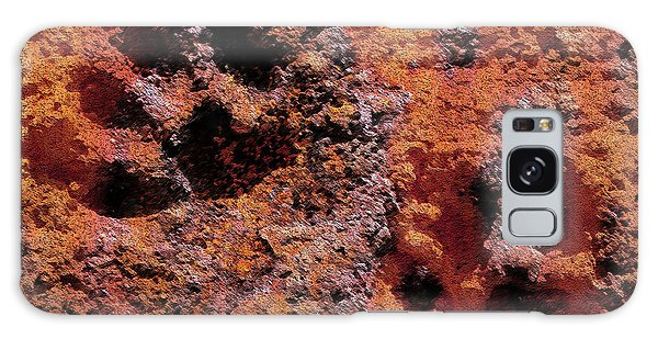 Paw Prints Rust Over Time Galaxy Case