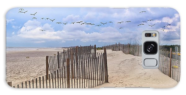 Pawleys Island Beach Scene Galaxy Case