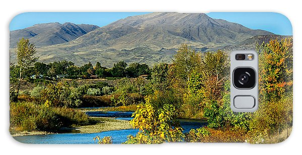 Haybale Galaxy Case - Payette River And Squaw Butte by Robert Bales