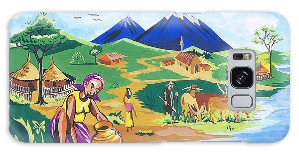 Paysage Du Nord Du Rwanda Galaxy Case by Emmanuel Baliyanga