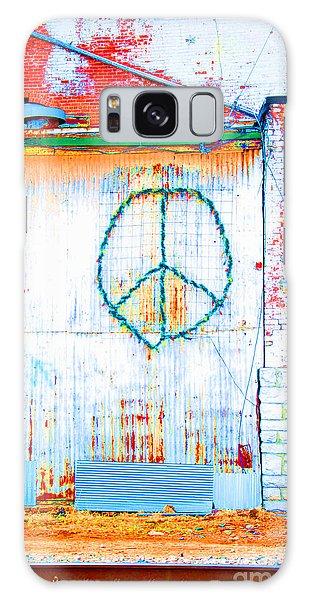 Peace 3 Galaxy Case by Minnie Lippiatt