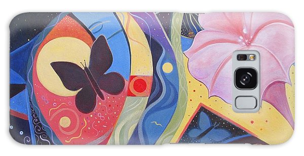 Peace And Flow Galaxy Case by Helena Tiainen