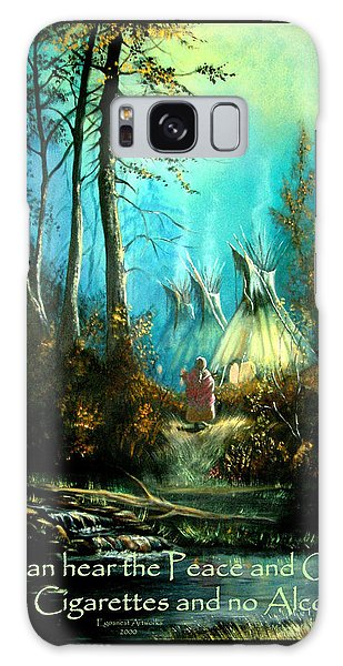Peace And Quiet Drug Free Tepee Galaxy Case