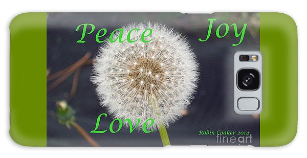 Peace Joy And Love Galaxy Case by Robin Coaker