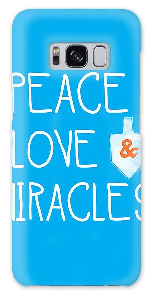 Card Galaxy S8 Case - Peace Love And Miracles With Dreidel  by Linda Woods