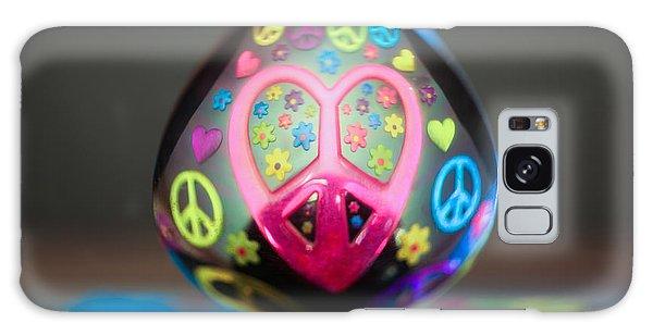 Peace Love Spoon Galaxy Case by Aaron Aldrich