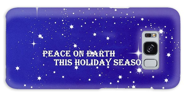 Peace On Earth Card Galaxy Case by Kathy Barney