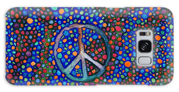 Peace Sign Galaxy Case by Janice Dunbar