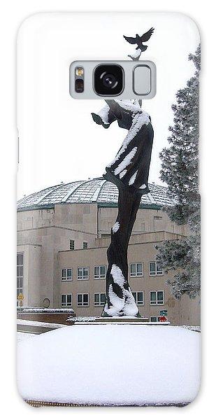 Peace Statue In Winter Galaxy Case