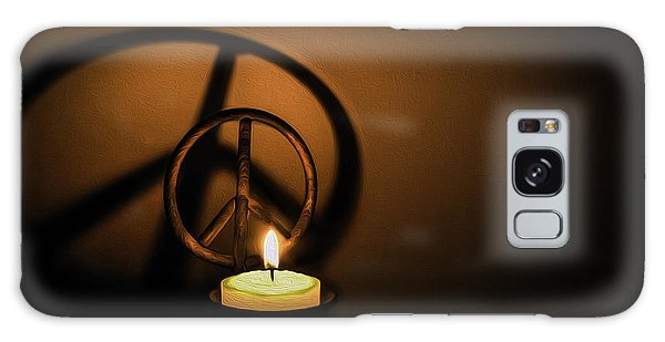 Peace Symbol Candle  Galaxy Case