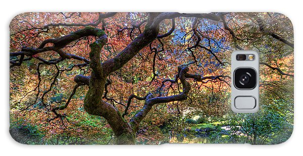 Peaceful Autumn Morning Galaxy Case