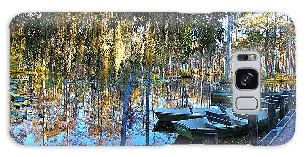 Peaceful Boat Landing By Jan Marvin Galaxy Case