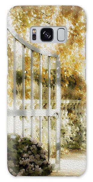 Peaceful English Garden Galaxy Case