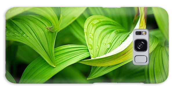 Peaceful Green Galaxy Case by Cynthia Lagoudakis