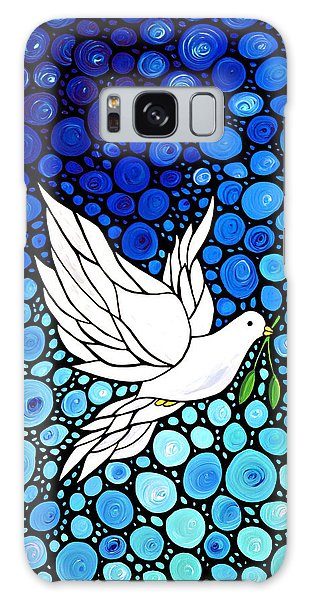 Peaceful Journey - White Dove Peace Art Galaxy Case