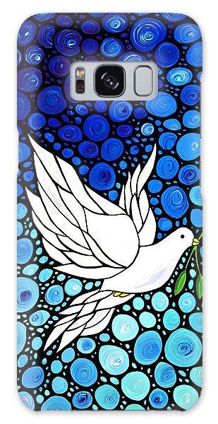 Peaceful Journey - White Dove Peace Art Galaxy Case