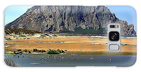 Peaceful Morro Rock Galaxy Case by Wernher Krutein