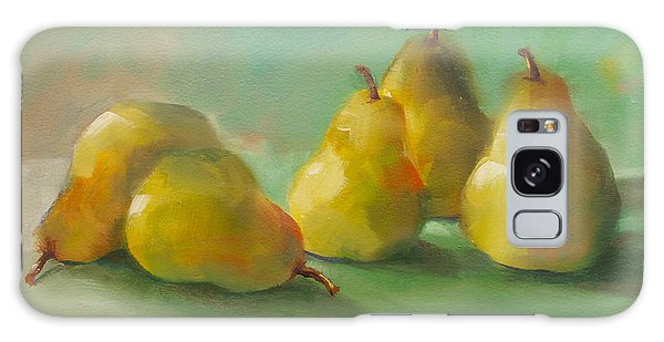 Peaceful Pears Galaxy Case by Michelle Abrams