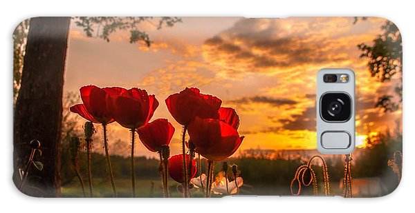 Peaceful Poppy Galaxy Case by Rose-Maries Pictures