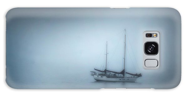 Peaceful Sailboat On A Foggy Morning From The Book My Ocean Galaxy Case by Artist and Photographer Laura Wrede