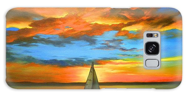 Peaceful Sailing Galaxy Case