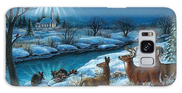 Peaceful Winters Night Galaxy Case