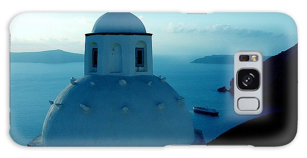Peacefull Santorini Greek Island  Galaxy Case