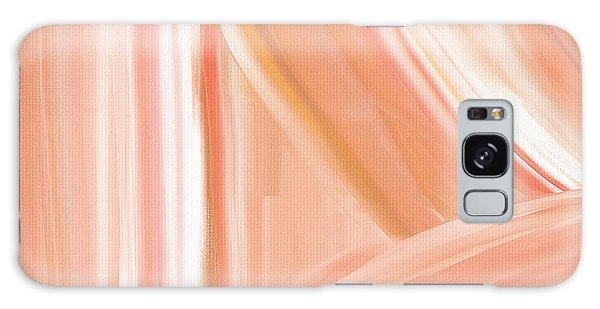 Peach Accent Galaxy Case by Lourry Legarde