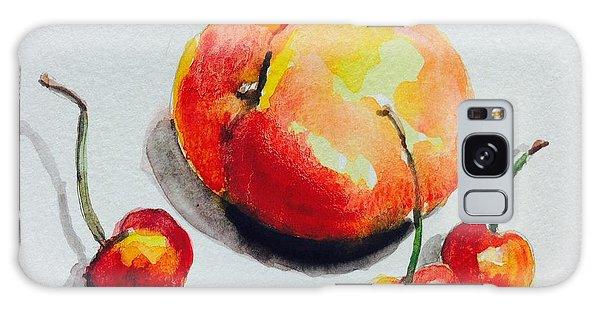 Peach And Cherries  Galaxy Case