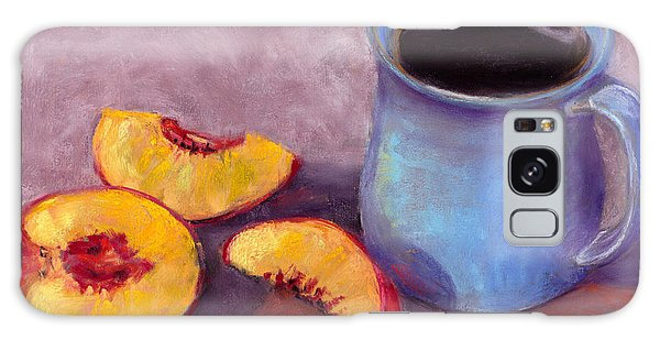 Peach Break Galaxy Case by Julie Maas