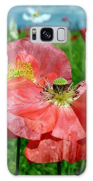 Peach Poppy Pods Galaxy Case