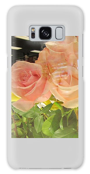 Peach Roses In Greeting Card Galaxy Case